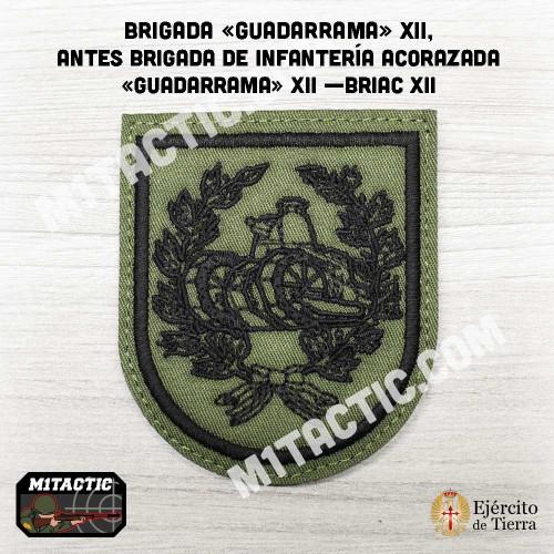 """Emblème / Patch Brigada """"Guadarrama"""" XII - BRIAC XII - Olive"""