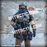 Custom Chest Vest Black - White Name Tape (SWAT)