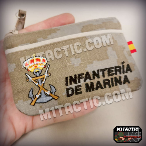 Monedero/Cartera en Árido Pixelado de Infantería de Marina