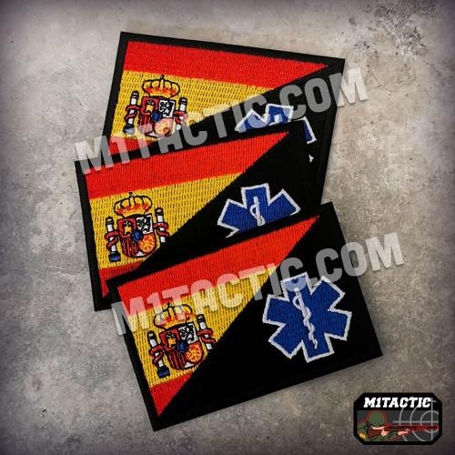 Patch / Drapeau Espagne - Sanitaire - Paramedic - EMT