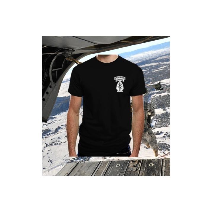 Camiseta Special Forces Airborne Negra