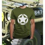 Camiseta WWII Star Olive Drab