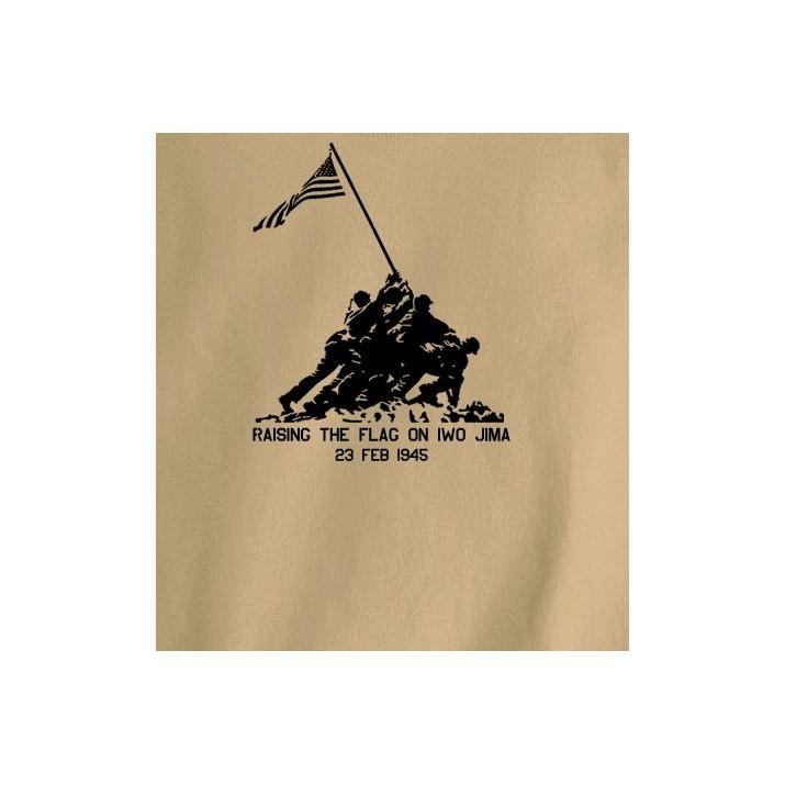 Camiseta Alzando bandera Iwo Jima TAN/Árida