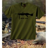 Camiseta M249 SAW Olive Drab