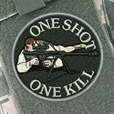 Parche One Shot One Kill SWAT/CQB