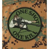 Parche One Shot One Kill Olive Drab