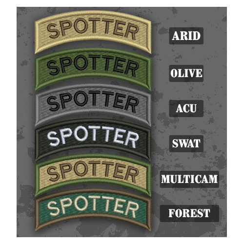 Spotter Shoulder Tab Patch in different color variants