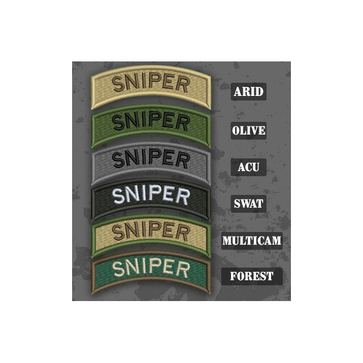 Sniper Shoulder Tab Patch in different color variants
