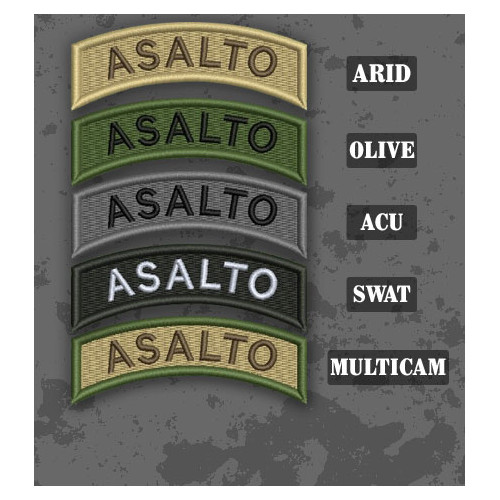 Assault / Asalto Shoulder Tab Patch in different color variants
