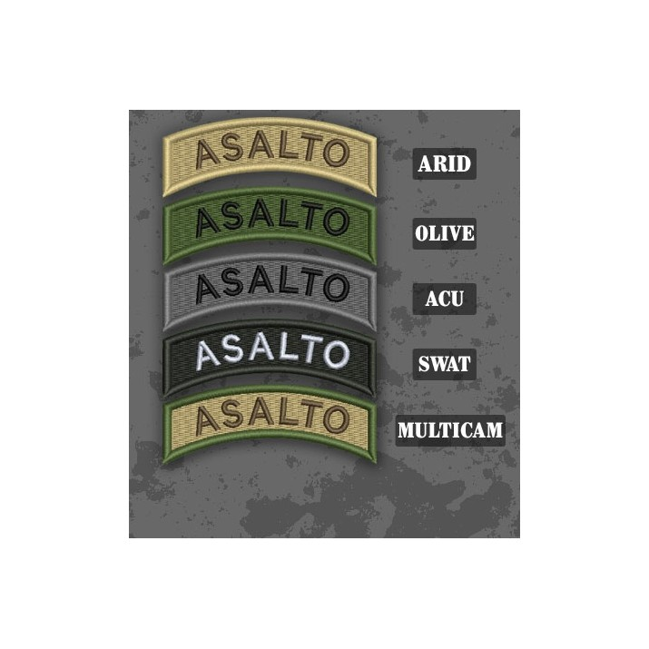 Assault / Asalto Shoulder Tab Patch in different color variants