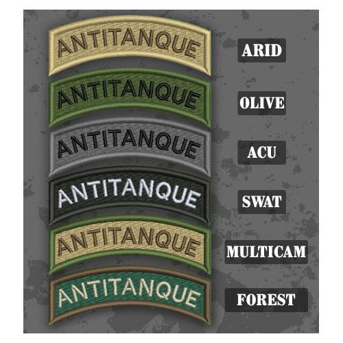 Antitank / Antitanque Shoulder Tab Patch in different color variants