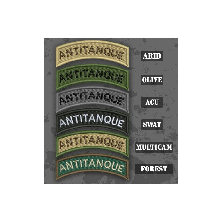 Antitank / Antitanque Shoulder Tab Patch in different color variants