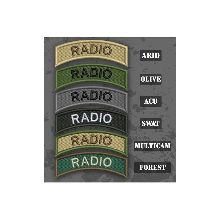 Radio Shoulder Tab Patch in different color variants