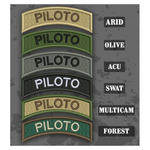 Pilote / Piloto Shoulder Tab Patch en différentes teintes