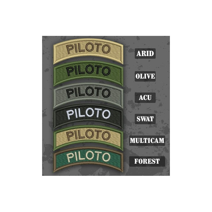 Pilot / Piloto Shoulder Tab Patch in different color variants