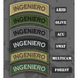 Ingénieur/ Ingeniero Shoulder Tab Patch in different color variants