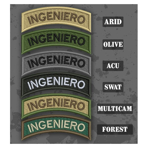 Ingénieur/ Ingeniero Shoulder Tab Patch in different color variants