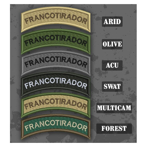 Sniper / Francotirador Shoulder Tab Patch in different color variants