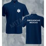 Polo Emergencias Médicas Azul-Blanco