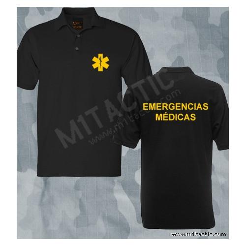Polo Emergencias Médicas Negro-Amarillo