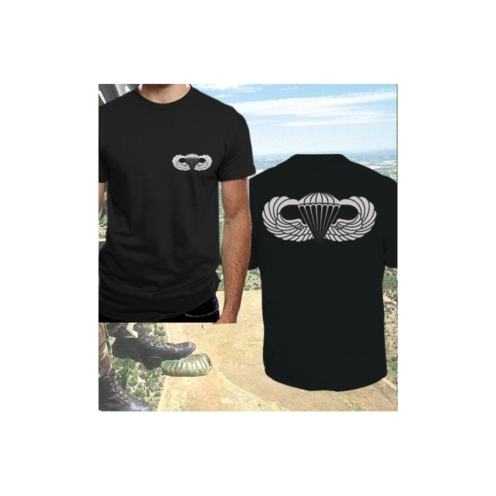 Camisetas Aerotransportada Negra