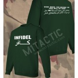 Sudadera Infidel - Stay back 100 meters... Verde