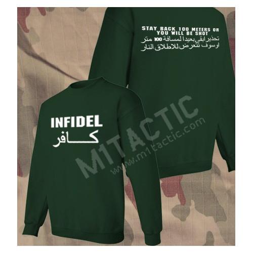 Sudadera Infidel - Stay back 100 meters... Verde