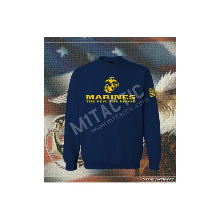 Sudadera Marines The Few. The Proud Navy-Amarilla