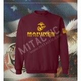 Sudadera Marines The Few. The Proud Burdeos-Amarilla