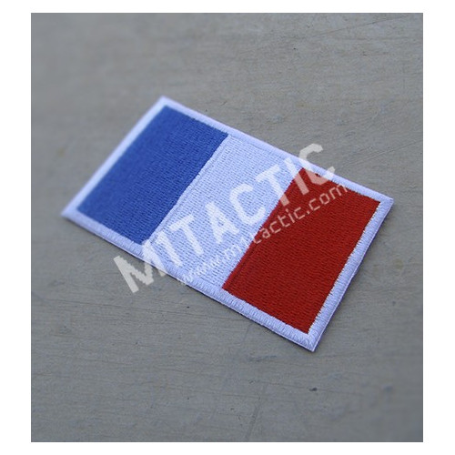 Embroidered France flag patch