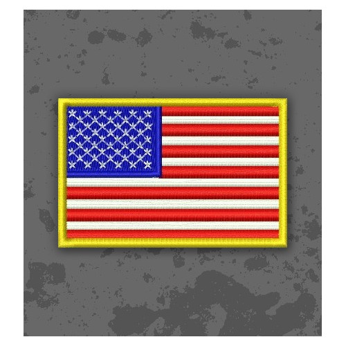 Embroidered USA Flag Patch